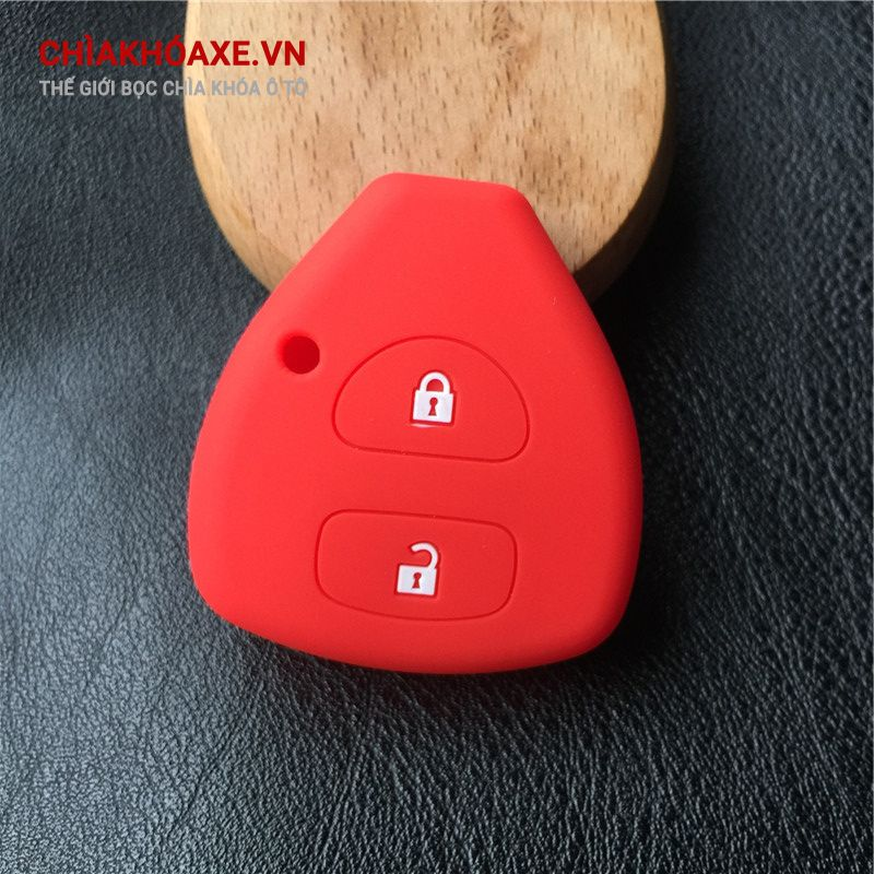 Bọc chìa khóa TOYOTA YARIS AURIS silicon 2 nút