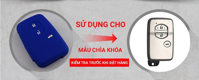 Vỏ silicon chìa khóa Toyota Land Cruiser Camry Highlander Crown Prado Prius 3 nút