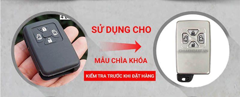 Bọc silicon chìa Toyota Noah Voxy Corolla Yaris Estima Tarago Mark X RAV4 4 nút