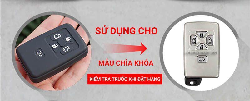 Bọc silicon chìa Toyota Noah Voxy Corolla Yaris Estima Tarago Mark X RAV4 5 nút