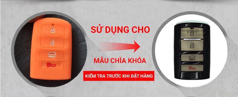 Bọc chìa khóa KIA K7 Cadenza 2013 2014 2015 2016 silicon