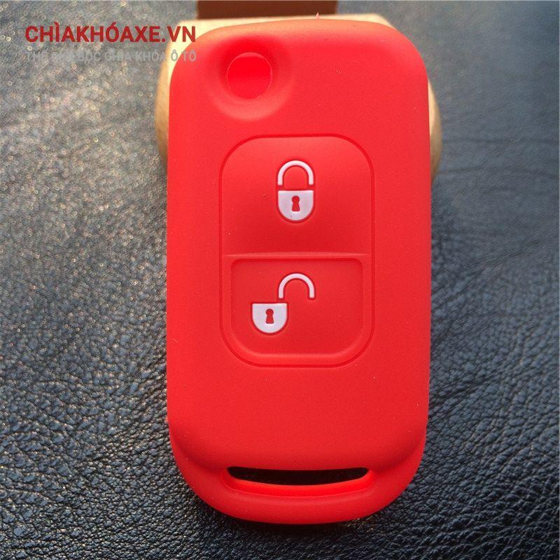 Bọc chìa khóa Mercedes A C E S class  W168 W202 W203 2 nút silicon