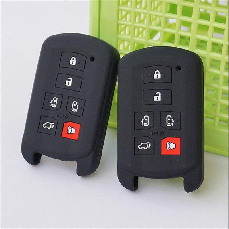 Bọc chìa khóa Toyota Sienna se 6 nút chất liệu silicon