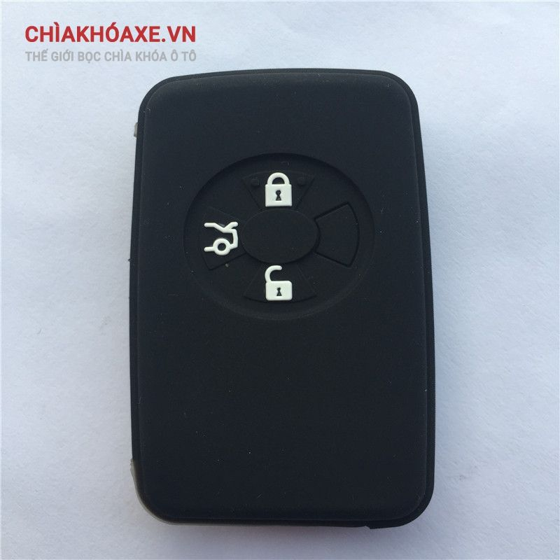 Bọc khóa silicon Toyota Corolla Yaris Mark X Hilux Vitz Rav4 Aqua Camry auris 3 nút