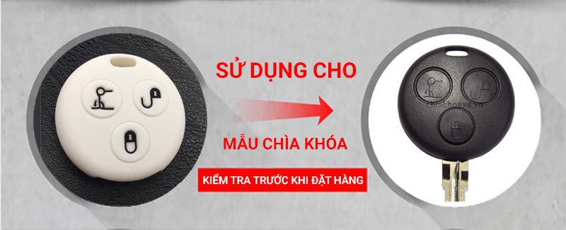 Bọc silicon chìa Mercedes Smart City Fortwo Roadster 3 nút