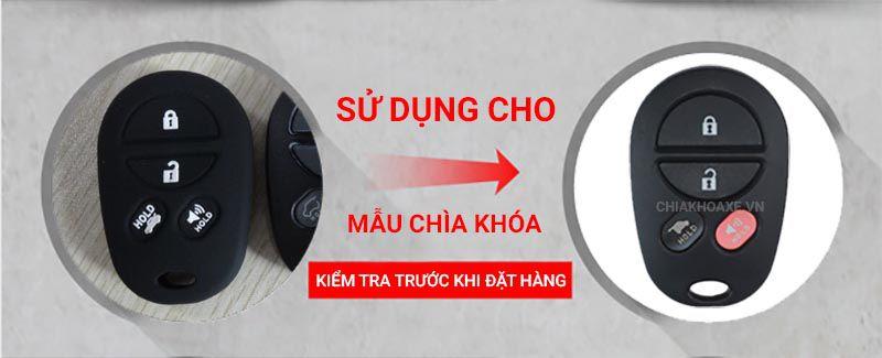 Bọc silicon chìa Toyota Camry Solara sequoia aurion 4 nút