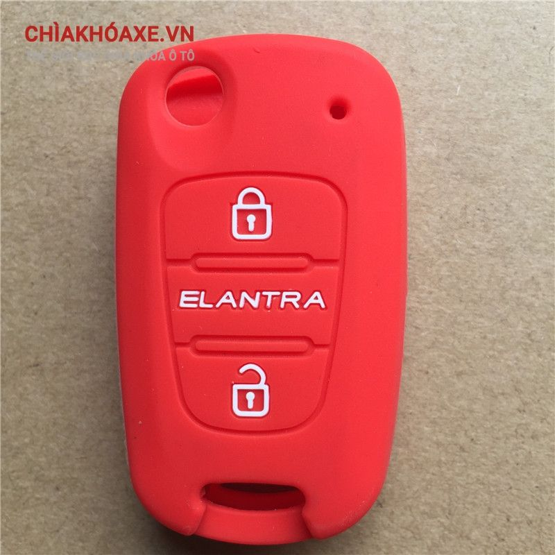 Bọc vỏ silicon chìa khóa xe Hyundai Elantra 3 nút bấm