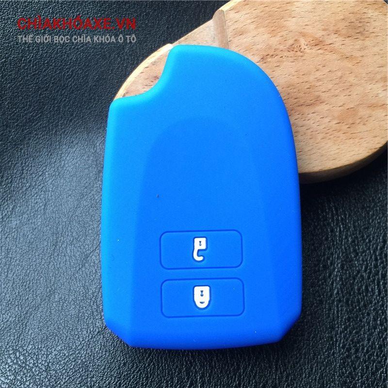 Bọc vỏ silicon chìa khóa xe Toyota Vios 2 nút bấm