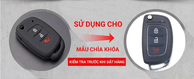 Vỏ silicon chìa Hyundai SANTAFE IX35 IX45 Accent I40 HB20 3 nút