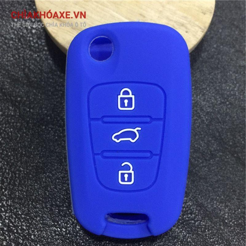 Vỏ silicon chìa Hyundai iX20 iX35 Solaris i30 Verna Veloster 3 nút