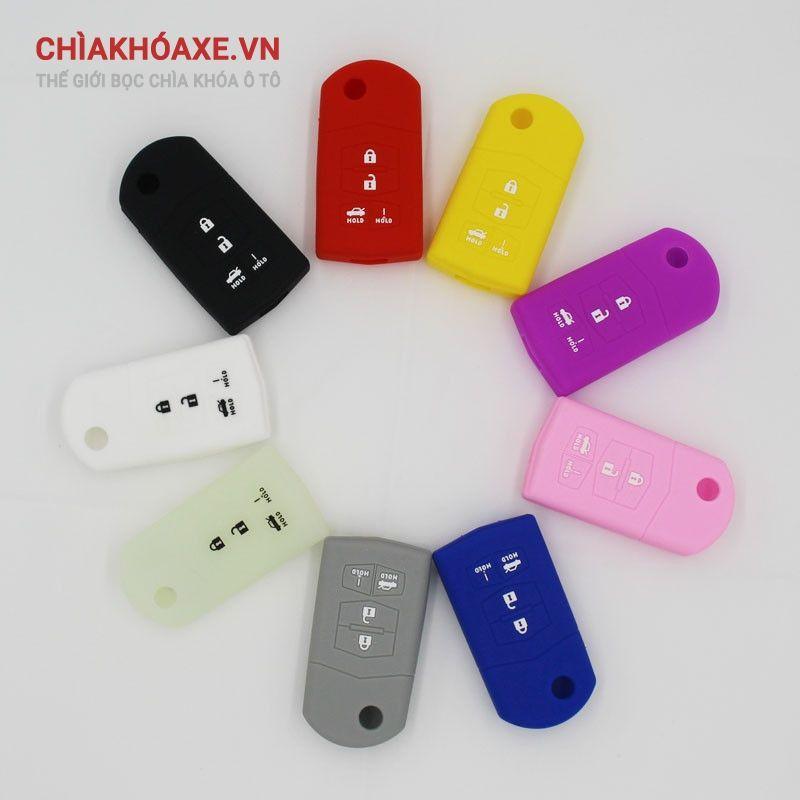 Vỏ silicon chìa MAZDA 3 5 6 CX-7 CX-9 MX-5 Miata, RX-8 4 nút