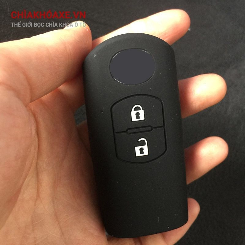 Vỏ silicon chìa Mazda 3 2 CX5 CX9 MX5 2016 2 nút bấm