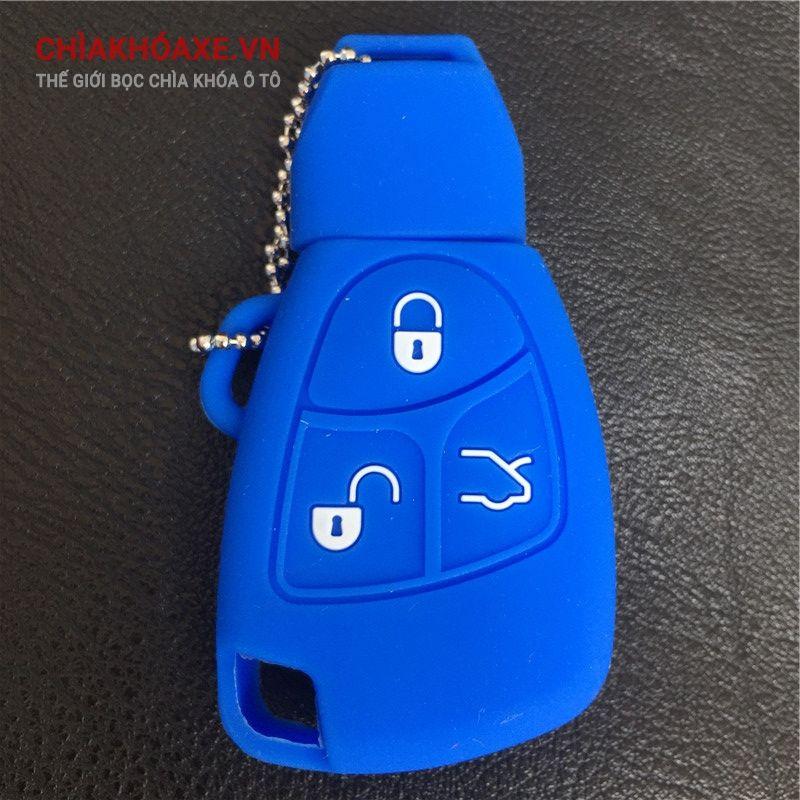 Vỏ silicon chìa khóa Mercedes B C E ML S CLK CL Class 3 nút
