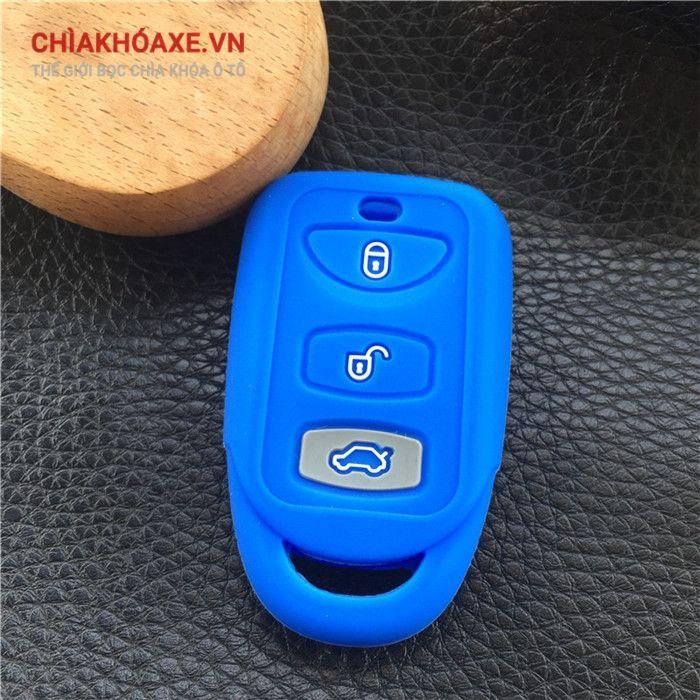 Bọc chìa Hyundai Sonata Santa Fe Elantra tucson 3 nút silicon